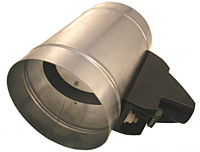 Zone Control Damper Tubes with Power-Open/Power-Close Modulating Motor
