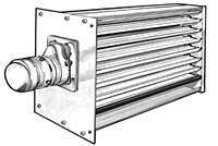Rectangular Shutter Air Flow Dampers with Power-Open/Power-Close Motor