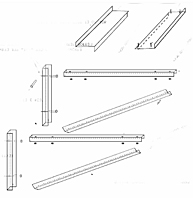Dimensional Drawing for Wall Support Assembly