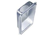 2 x 4 Inch (in) Wall Size and Upward Exhaust Direction 22 Gauge Aluminized Steel Dryer Box