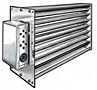 Rectangular Shutter Air Flow Dampers with Power-Open/Spring-Close (or Spring-Open/Power-Close) Motor